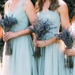 Azazie Dresses - Azazie Mikaela Dress - Dusty Sage, Size 4